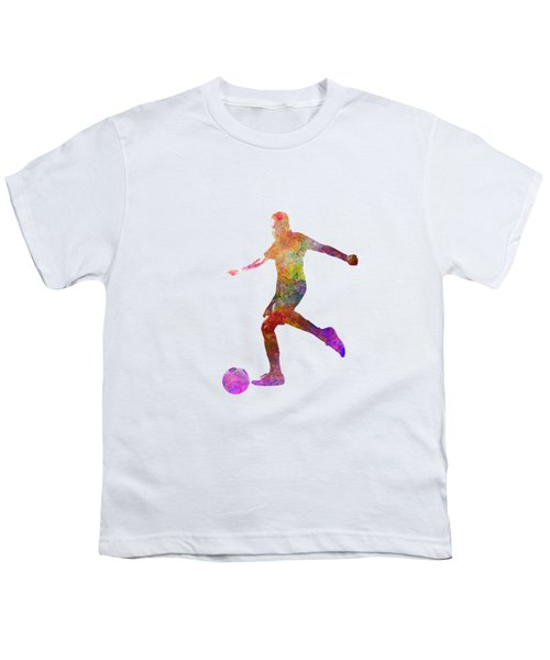 Man Soccer Football Player 16 Youth T-Shirt by Pablo Romero