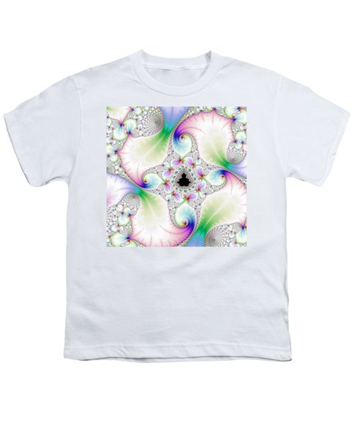 Mandebrot In Pastel Fractal Wonderland Youth T-Shirt