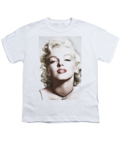 Marilyn Monroe - Colored Verticals Youth T-Shirt by Samuel Majcen