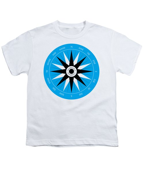 Mariner's Compass Youth T-Shirt by Frank Tschakert