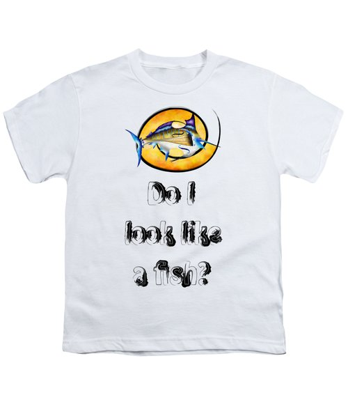 Marlinissos V1 - Violinfish With Text Youth T-Shirt by Cersatti