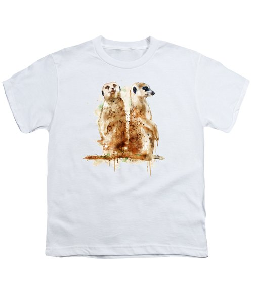 Meerkats Youth T-Shirt by Marian Voicu