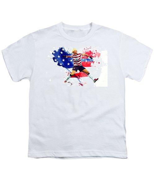 Megan Rapinoe Youth T-Shirt by Semih Yurdabak
