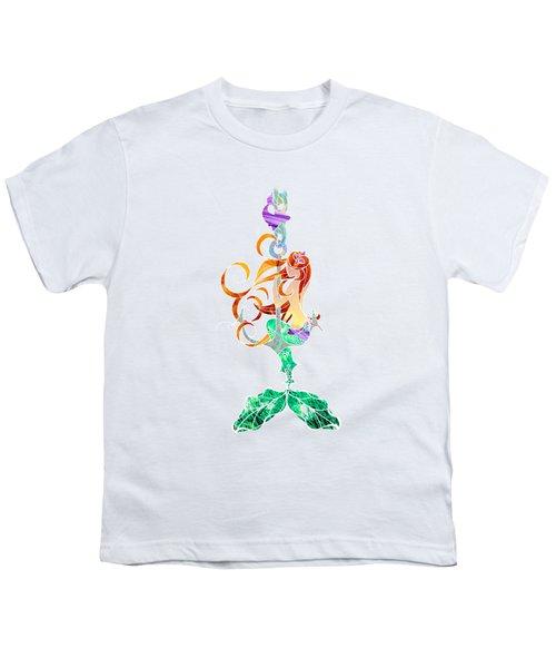 Mermaid Youth T-Shirt by Aubrey Hittle
