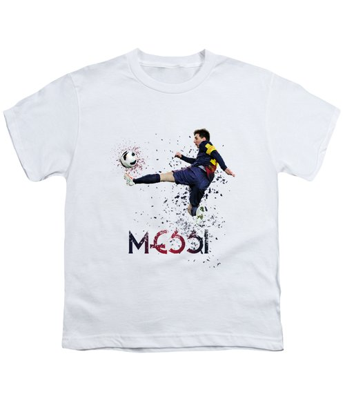Messi Youth T-Shirt by Armaan Sandhu