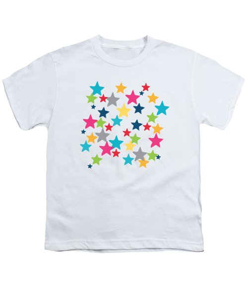 Messy Stars- Shirt Youth T-Shirt by Linda Woods
