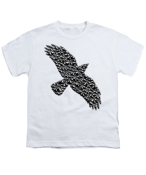 Metallic Crow Youth T-Shirt by Chris Butler