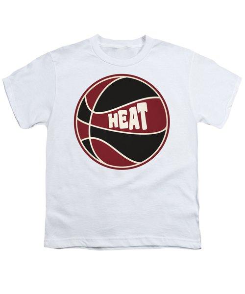 Miami Heat Retro Shirt Youth T-Shirt by Joe Hamilton