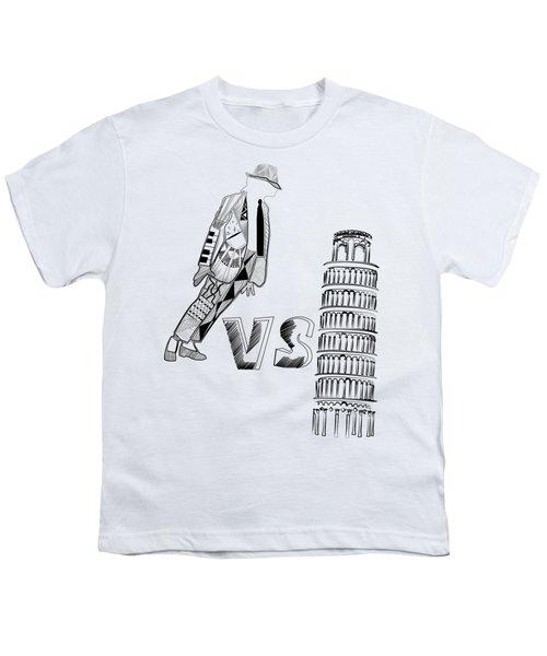 Mj Vs Pisa Youth T-Shirt by Serkes Panda
