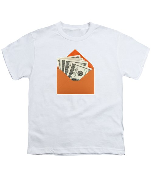 Money In An Orange Envelope Youth T-Shirt
