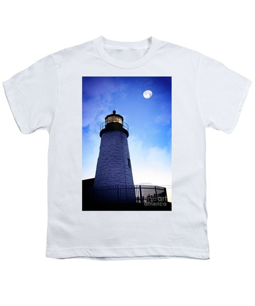 Moon Over Lighthouse Youth T-Shirt