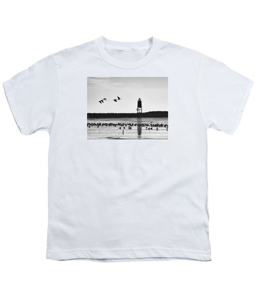 Youth T-Shirt featuring the photograph Morning At Racine Lakefront by Ricky L Jones