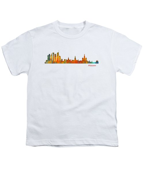 Moscow City Skyline Hq V1 Youth T-Shirt