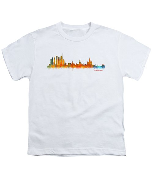 Moscow City Skyline Hq V2 Youth T-Shirt