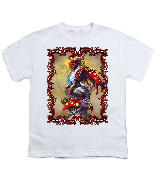 Mushroom Dragon T-shirts Youth T-Shirt by Stanley Morrison