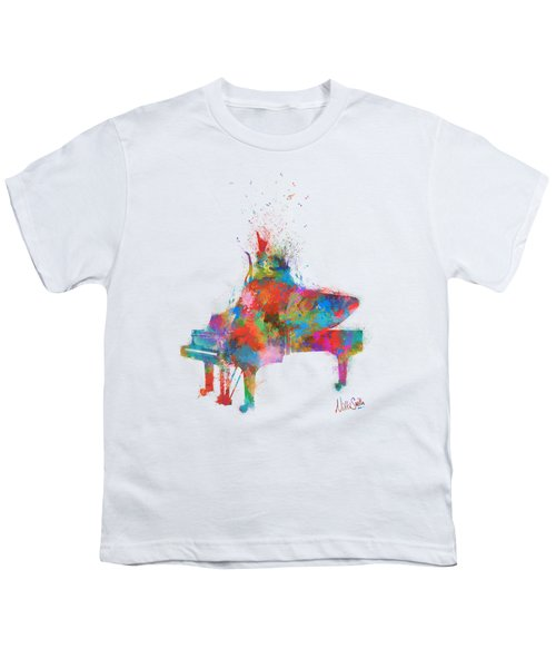Music Strikes Fire From The Heart Youth T-Shirt by Nikki Marie Smith
