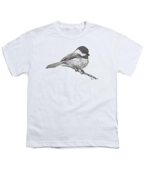 My Little Chickadee-dee-dee Youth T-Shirt by Mary-Ellen Arsenault