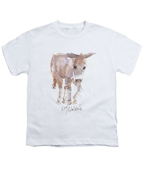 New Pasture Boss Youth T-Shirt by Kathleen McElwaine