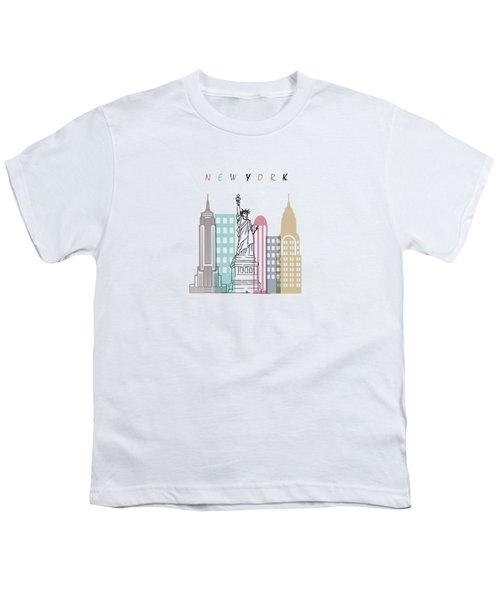 New York  Minimal  Youth T-Shirt by Mark Ashkenazi