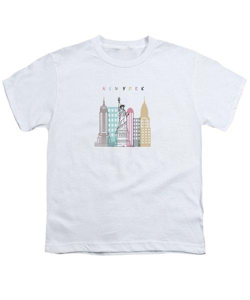 New York  Minimal  Youth T-Shirt