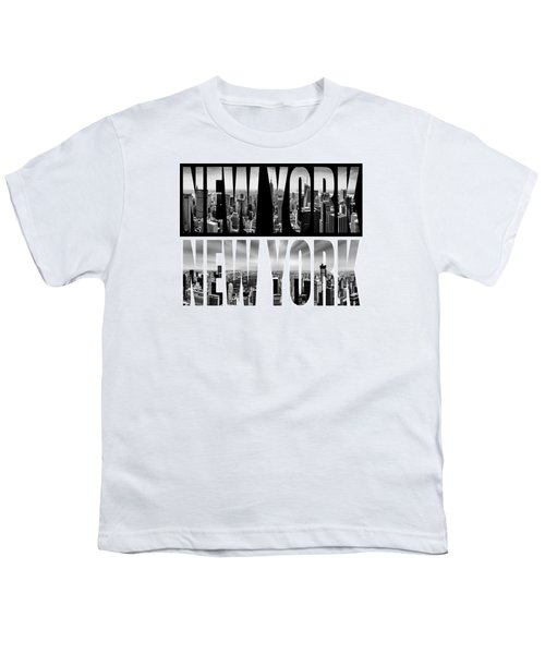 New York New York Youth T-Shirt by Az Jackson