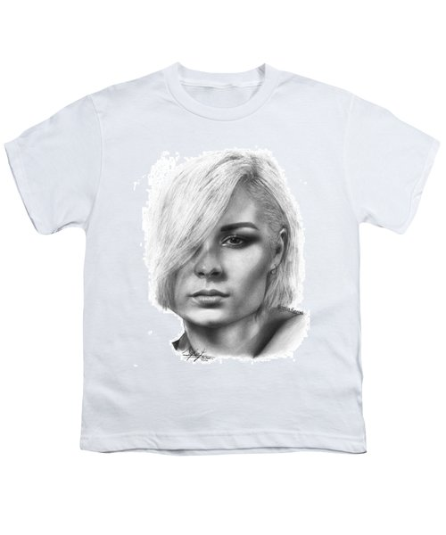 Nina Nesbitt Drawing By Sofia Furniel Youth T-Shirt by Sofia Furniel