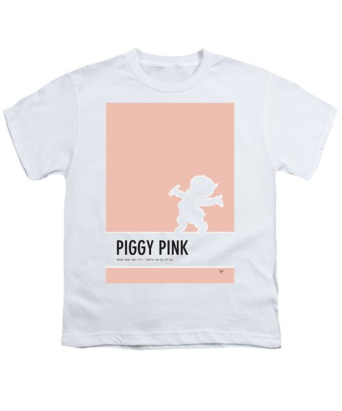 No17 My Minimal Color Code Poster Porky Pig Youth T-Shirt