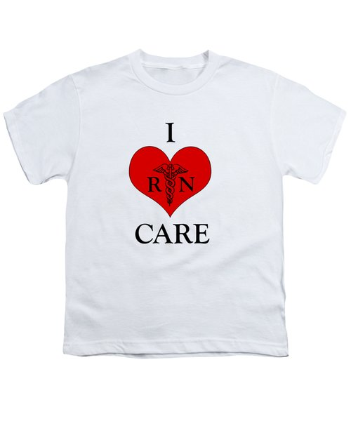 Nursing I Care -  Red Youth T-Shirt by Mark Kiver