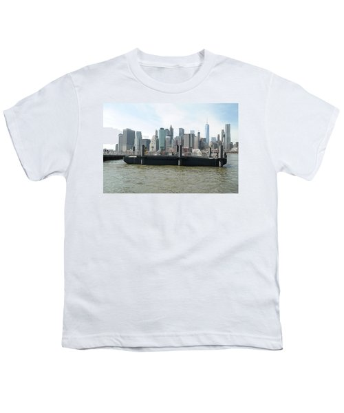 Nyc Skyline Youth T-Shirt by Michael Paszek