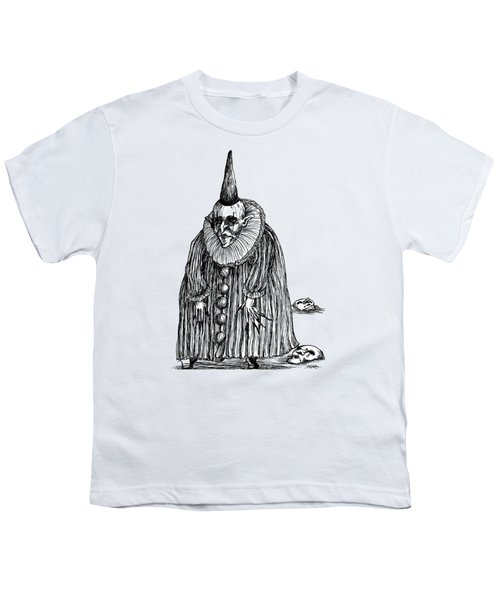 Old Clown Youth T-Shirt by Akiko Okabe