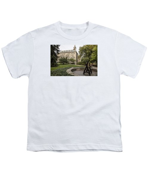 Old Main Penn State Bell  Youth T-Shirt by John McGraw