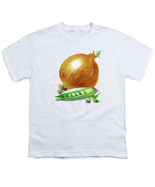 Onion And Peas Youth T-Shirt by Irina Sztukowski