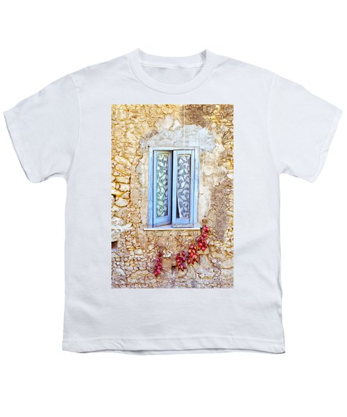 Onions And Garlic On Window Youth T-Shirt