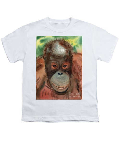 Orangutan Youth T-Shirt by Donald Maier