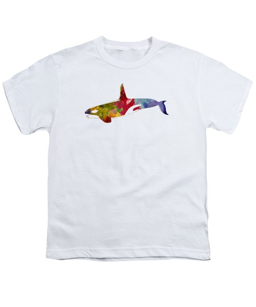 Orca - Killer Whale Drawing Youth T-Shirt by World Art Prints And Designs