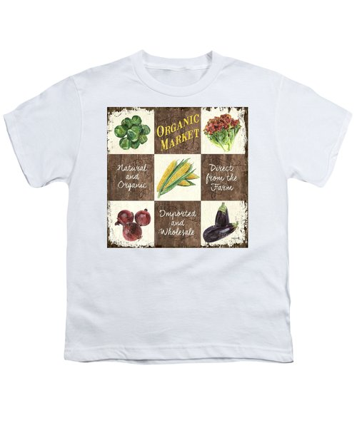 Organic Market Patch Youth T-Shirt by Debbie DeWitt