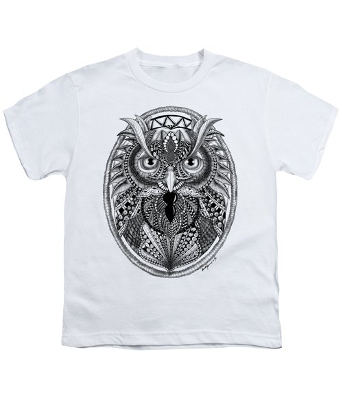 Ornate Owl Youth T-Shirt