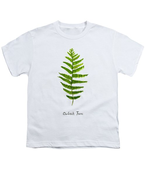 Ostrich Fern Youth T-Shirt by Color Color