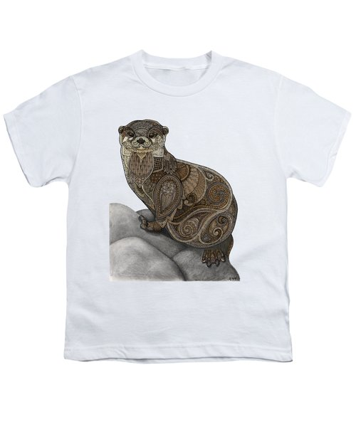 Otter Tangle Youth T-Shirt by ZH Field