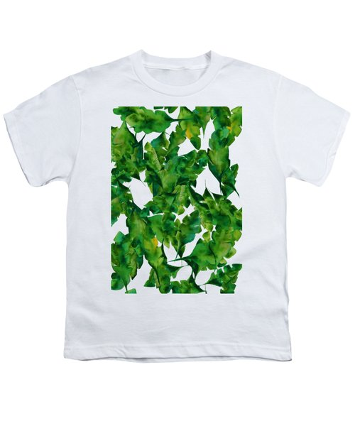 Overlapping Leaves Youth T-Shirt by Cortney Herron