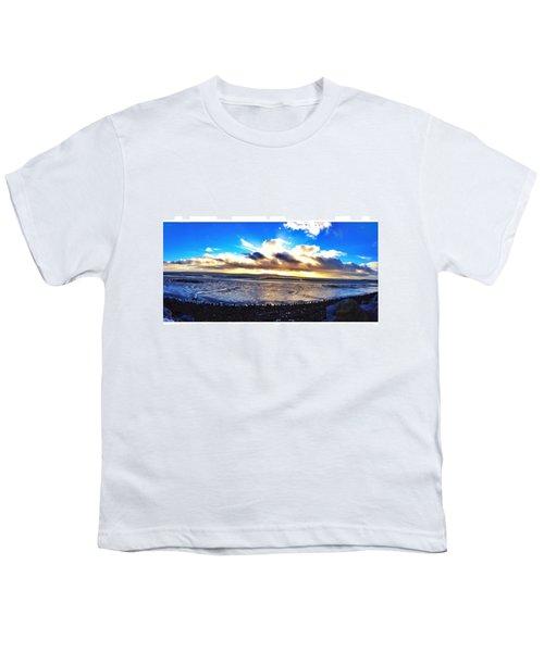 Panorama If College Beach. #beach Youth T-Shirt
