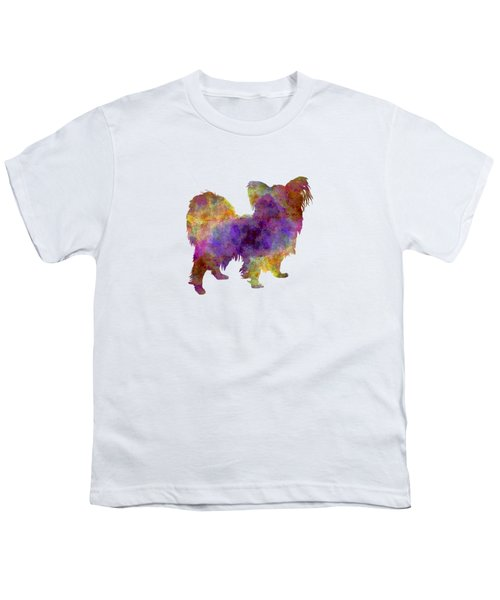 Papillon In Watercolor Youth T-Shirt by Pablo Romero
