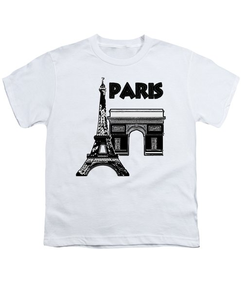 Paris Graphique Youth T-Shirt by Pharris Art