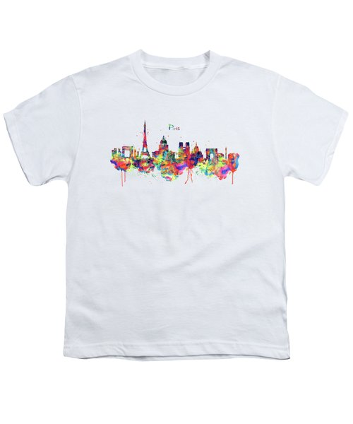 Paris Skyline 2 Youth T-Shirt by Marian Voicu