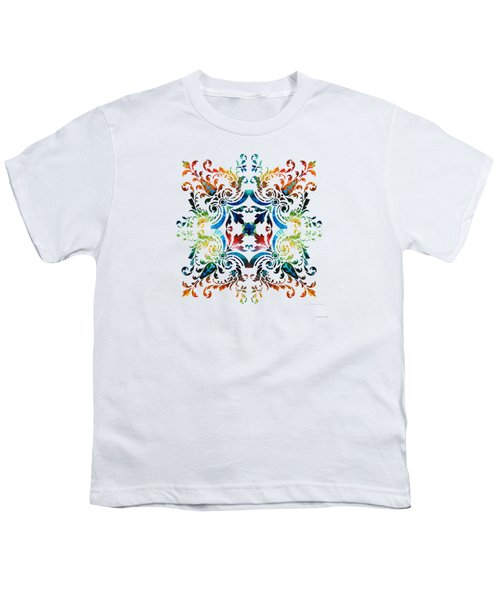 Pattern Art - Color Fusion Design 7 By Sharon Cummings Youth T-Shirt