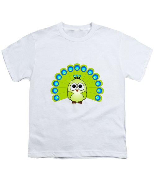 Peacock  - Birds - Art For Kids Youth T-Shirt