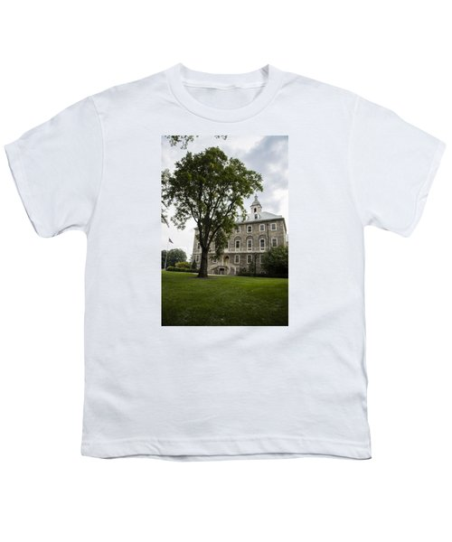 Penn State Old Main From Side  Youth T-Shirt by John McGraw