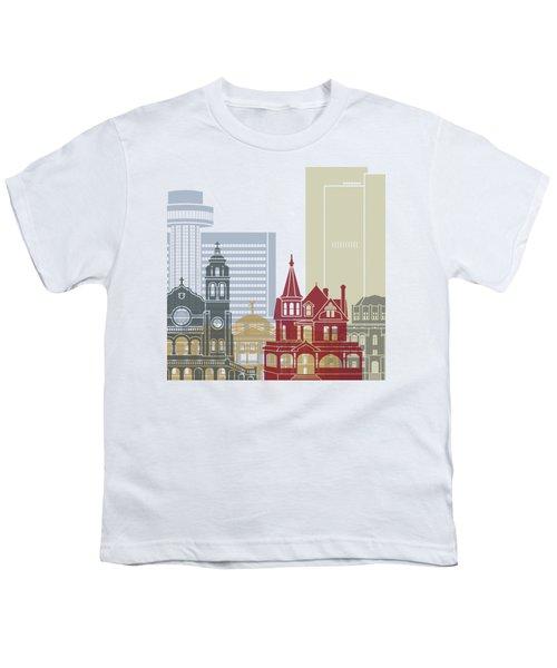Phoenix Skyline Poster Youth T-Shirt
