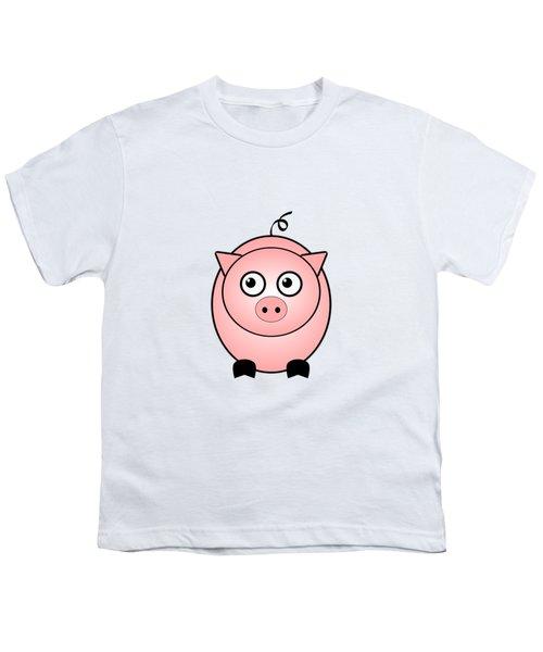 Piggy - Animals - Art For Kids Youth T-Shirt by Anastasiya Malakhova