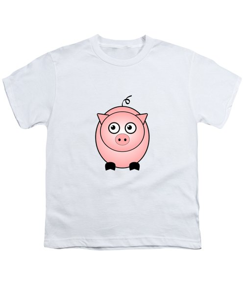 Piggy - Animals - Art For Kids Youth T-Shirt